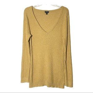 Torrid 2 long sleeve v neck top yellow